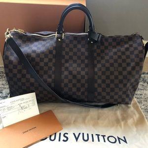 Louis Vuitton Keepall Bandoulière 55 damier ebene